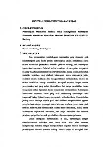 PROPOSAL PENELITIAN TINDAKAN KELAS - File UPI - Universitas ...