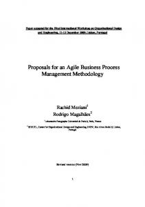 Proposals for an Agile Business Process Management Methodology