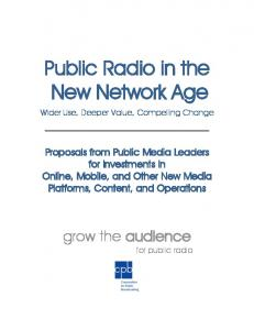 Proposals for New Media investments