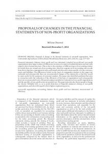 proposals of changes in the financial statements of non-profit ...
