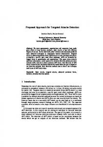 Proposed Approach for Targeted Attacks Detection