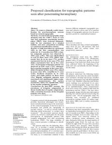 Proposed classification for topographic patterns seen after ... - NCBI