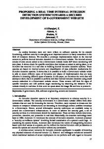 proposing a real time internal intrusion detection system towards a ...