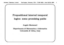 Propositional interval temporal logics - Server users.dimi.uniud.it