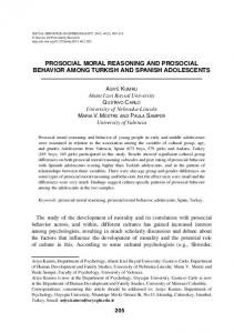 prosocial moral reasoning and prosocial behavior ...