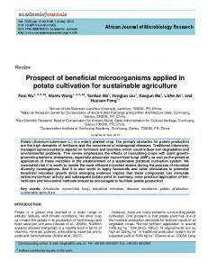 Prospect of beneficial microorganisms applied in ... - Academic Journals