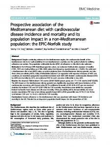 Prospective association of the Mediterranean diet with ... - Springer Link