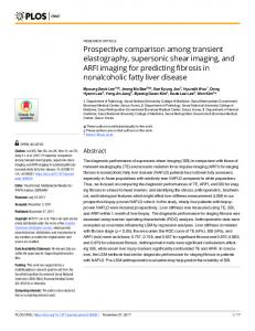 Prospective comparison among transient elastography ... - PLOS