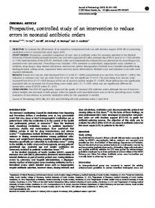 Prospective, controlled study of an intervention to reduce ... - Nature