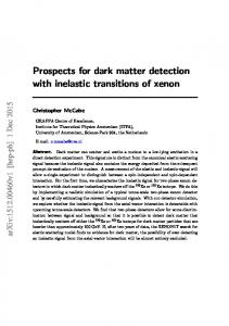 Prospects for dark matter detection with inelastic transitions of ... - arXiv