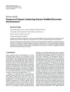 Prospects of Organic Conducting Polymer Modified Electrodes ...