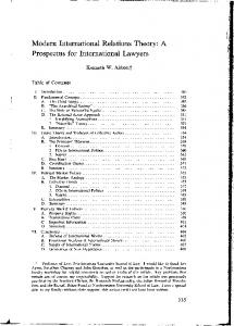 Prospectus for International Lawyers - SSRN papers