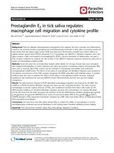 Prostaglandin E2 in tick saliva regulates macrophage ... - BioMedSearch