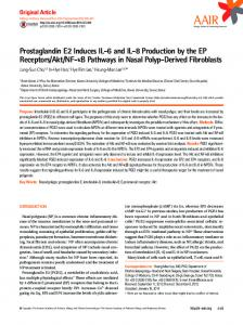 Prostaglandin E2 Induces IL-6 and IL-8 Production