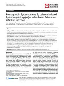 Prostaglandin E2/Leukotriene B4 balance induced by ... - Core