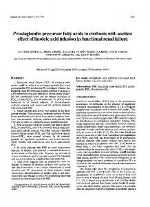 Prostaglandin precursor fatty acids in cirrhosis with ... - Clinical Science