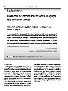 Prostanoid receptor in tumor-associated angiogenesis and tumor growth