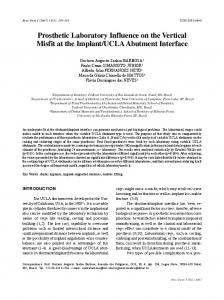 Prosthetic Laboratory Influence on the Vertical Misfit at the ... - SciELO