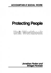 Prot ect ing People Unit Workbook
