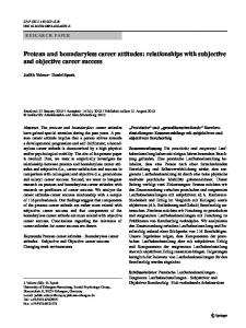 Protean and boundaryless career attitudes: Relationships with ...