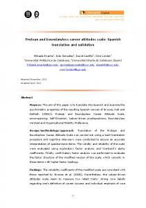 Protean and boundaryless career attitudes scale: Spanish ... - Core