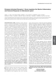 Protease-Activated Receptor-1 Down-regulates the ... - Gastroenterology