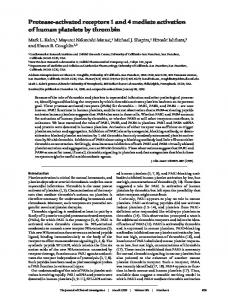 Protease-activated receptors 1 and 4 mediate activation of human ...