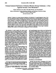 Protease-Catalyzed Hydrolysis of Substrate ... - Stanford University