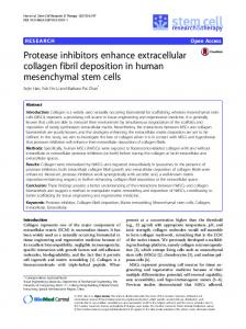 Protease inhibitors enhance extracellular collagen fibril deposition in ...