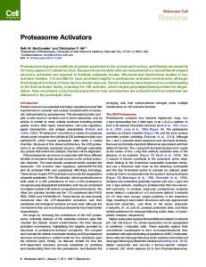Proteasome Activators - Semantic Scholar