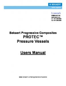 Protec User Manual Pressure vessels - Lenntech