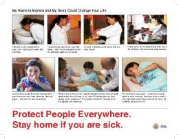 Protect People Everywhere. Stay home if you are sick.