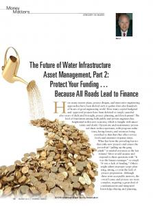 Protect Your Funding...All Roads Lead To Finance - Water Infrastructure