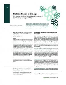 Protected Areas in the Alps - ilf.hsr.ch