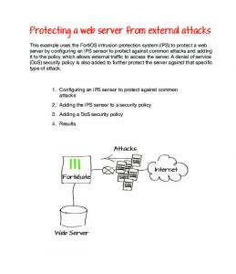 Protecting a web server from external attack