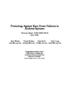 Protecting Against Rare Event Failures in Archival Systems