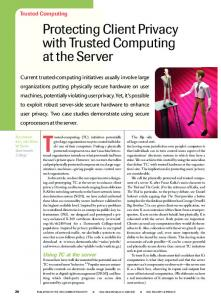 Protecting Client Privacy with Trusted Computing at the Server