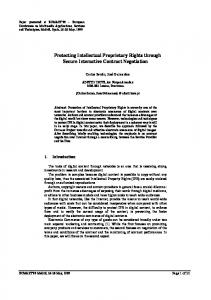 Protecting Intellectual Proprietary Rights through Secure ... - CiteSeerX