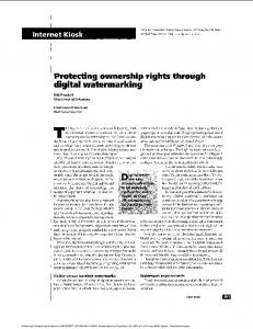 Protecting ownership rights through digital watermarking - Computer
