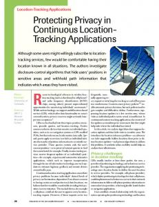 Protecting privacy in continuous location-tracking applications ...