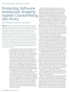 Protecting Software Intellectual Property Against ... - Semantic Scholar