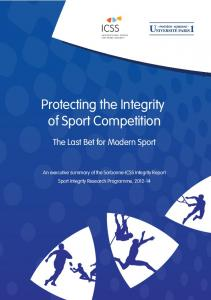 Protecting the Integrity of Sport Competition - International Centre for ...