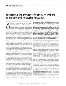 Protecting the Privacy of Family Members in ... - Semantic Scholar