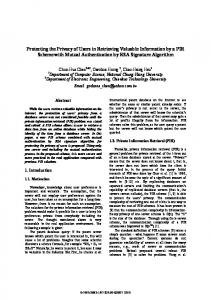 Protecting the Privacy of Users in Retrieving ... - Semantic Scholar