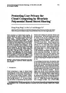 Protecting User Privacy for Cloud Computing by Bivariate Polynomial ...