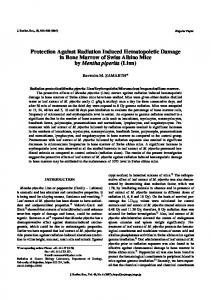 Protection Against Radiation Induced Hematopoietic ... - IEEE Xplore