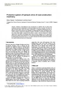 Protection system of hydraulic drive of road construction machinery