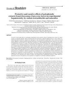 Protective and curative effects of polyphenolic