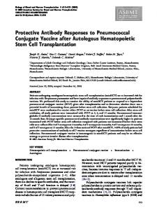 Protective Antibody Responses to Pneumococcal Conjugate Vaccine ...