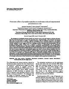 Protective effect of proanthocyanidins on ... - Semantic Scholar